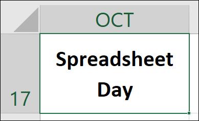 Spreadsheet Day Logo