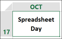Spreadsheet Day http://spreadsheet-day.com/blog/