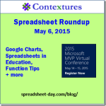 Spreadsheet Roundup -- May 2015 http://spreadsheet-day.com/blog/