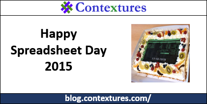 Spreadsheet Day 2015 http://spreadsheet-day.com/blog/