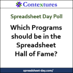 Spreadsheet Hall of Fame Categories