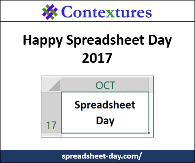 Happy Spreadsheet Day 2017 http://spreadsheet-day.com/blog/