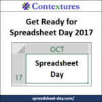 Get Ready for Spreadsheet Day 2017