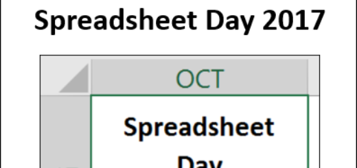 Get Ready for Spreadsheet Day 2017 http://spreadsheet-day.com/blog/