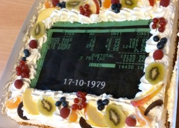 Spreadsheet Day Cake